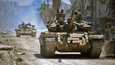 صورة الجيش السوري يقتحم مدينة خان شيخون في ريف إدلب