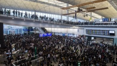 Photo of Hong Kong airport authority cancels flights over protests