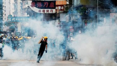 Photo of Police fire tear gas at Hong Kong protesters as new clashes erupt