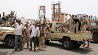 """صورة قوات """"الانتقالي"""" بدأت الانسحابوالعودة إلى مواقعها السابقة في العاصمة اليمنية"""