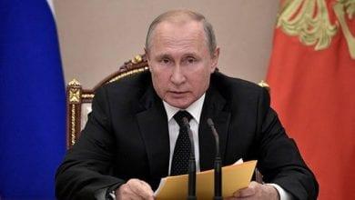 صورة بوتين: بلاده لن تسعى إلى الانجرار للدخول في سباق تسلح