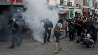 Photo of French police fire tear gas at anti-G7 protesters near summit