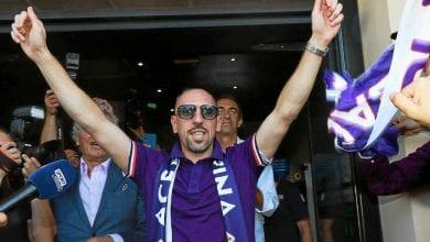 Photo de Franck Ribéry accueilli en véritable rock-star du côté de Florence