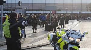 صورة انفجار خارج مركز شرطة محلي في كوبنهاغن