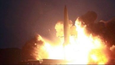 """Photo de Tirs de missiles nord-coréens: un """"avertissement"""" à Washington et à Séoul"""