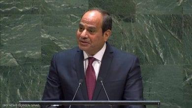صورة الرئيس المصري يطالب بإنهاء التدخلات الخارجية من أطراف تسعى لتقويض الأمن العربي