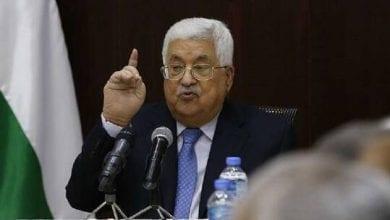 صورة رئيس السلطة الفلسطينية: يهدد بإنهاء الإتفاقيات مع اسرائيل