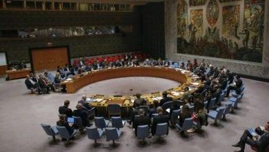 صورة مشروع قرار بريطاني على طاولة مجلس الأمن الدولي حول المرتزقة في ليبيا
