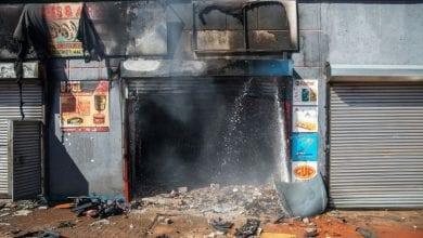 صورة رئيس جنوب افريقيا يدين أعمال العنف التي جرت في جوهانسبرغ