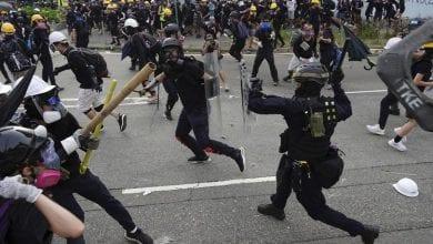 Photo de Hong Kong: affrontements entre manifestants et policiers