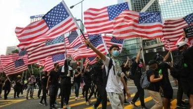 Photo de Hong Kong: Les manifestants ont appelé les États-Unis à faire pression sur les autorités chinoises pour qu'elles répondent à leurs revendications