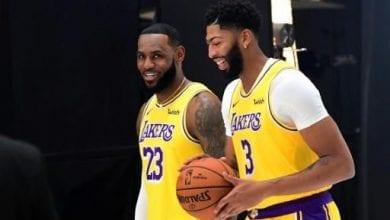 Photo of James bullish on new Lakers teammate Davis