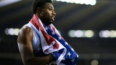 Photo of Lyles focused on 200m world gold, not Bolt's record