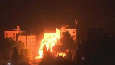 Photo of AFTER ROCKET ATTACK, ISRAELI OCCUPATION STRIKES 15 TARGETS IN GAZA