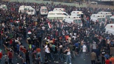 صورة استمرار الإحتجاجات في العراق … مقتل 28 شخصاً خلال المواجهات بين الشرطة والمحتجين