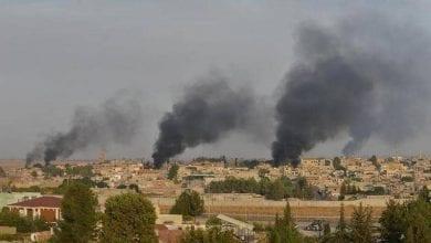 صورة اشتباكات عنيفة بين قوات سوريا الديمقراطية و القوات التركية