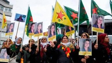 صورة آلاف الأشخاص يتظاهرون في ألمانيا ضد العدوان التركي على شمال سوريا