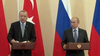 """صورة بوتين يتوصل إلى حلول """"حاسمة"""" مع أردوغان حول سوريا"""