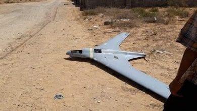صورة اسقاط طائرة تركية مسيرة في الشمال السوري