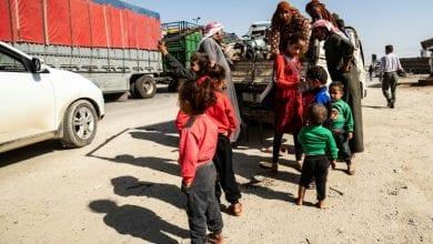 صورة حركة نزوح كبيرة من شمال سوريا جراء العدوان التركي