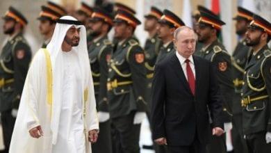 Photo de Poutine visite les Emirats Arabes Unis et signe des accords