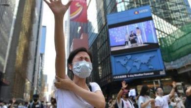 Photo de les lois d'urgence annoncée et les masques interdits Hong Kong
