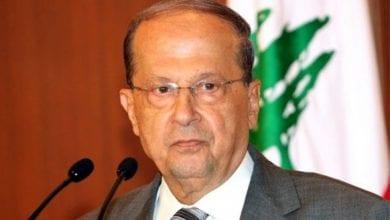 Photo de Michel Aoun Prêts au débat, les manifestants rejettent son discours