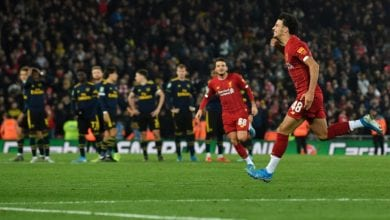 Photo of Liverpool reach League Cup quarters after 10-goal thriller against Arsenal