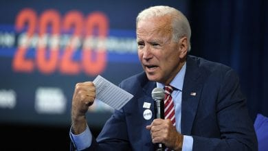 "Photo of Joe Biden speech: Former vice president tells Trump ""I'm not going anywhere"" in Reno speech"