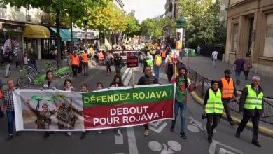 صورة مظاهرات في باريس منددة بالعدوان التركي على شمال سوريا