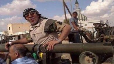 صورة إرهابي ومطلوب دولي يترأس المخابرات العسكرية التابعة لحكومة الوفاق في ليبيا