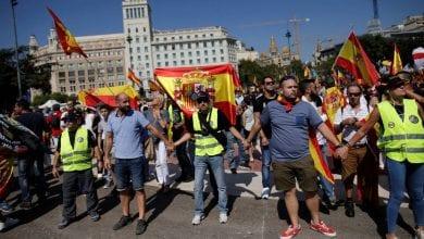 Photo de Manifestations en Catalogne après la condamnation de 9 indépendantistes à la prison