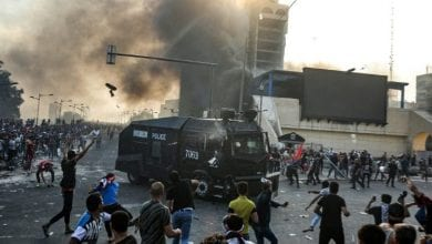 Photo of Iraqi police fire tear gas as hundreds protest in Baghdad