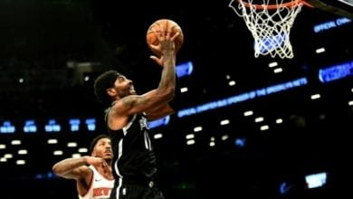 Photo of Irving, Nets hold off Knicks in Big Apple NBA battle