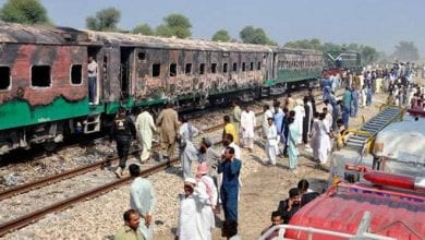 Photo of Scores killed in fire on Pakistani train