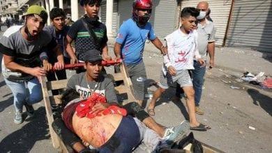 """صورة منظمة العفو الدولية تدعو إلى كبح جماح قوات الأمن العراقية ومنع وقوع """"حمام دم"""""""