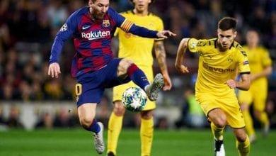 صورة برشلونة يتصدر مجموعته السادسة في دوري أبطال أوروبا لكرة القدم