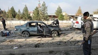 صورة سيارة مفخخة تقتل سبعة أشخاص في كابول
