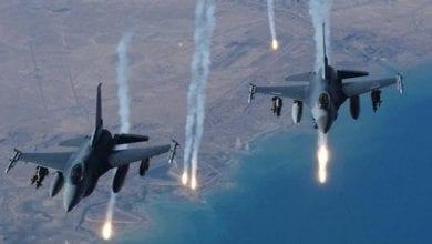 صورة سلسلة غارات شنتها طائرات الاحتلال الإسرائيلي على أهداف متفرقة في قطاع غزة