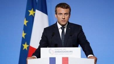 """صورة الرئيس الفرنسي """"غير واثق"""" من عقد اتفاق شامل بين الاتحاد الأوروبي وبريطانيا هذا العام"""