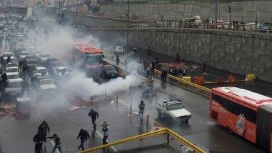 صورة مقتل 36 متظاهر واعتقال المئات خلال احتجاجات واسعة في إيران