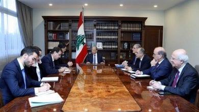 Photo of President Aoun receives French envoy at Baabda palace