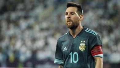 Photo de Argentine bat  le Brésil par un  seul but marqué par Messi