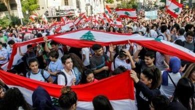 Photo de Ecoliers et étudiants ont manifesté  par milliers à travers le Liban