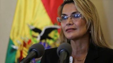 Photo de Jeanine Añez tente de calmer le pays  après son accession au pouvoir