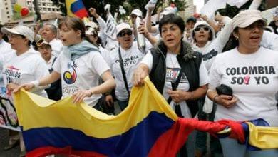Photo de Les Colombiens manifestent leur contre la politique du gouvernement d'Ivan Duque