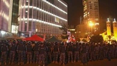 Photo de Les contestataires au Liban ont bloqué les routes