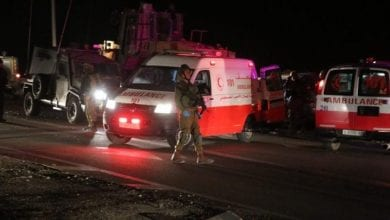 Photo of Hebron : An Israeli military bulldozer crashes into a car in Hebron, killing a Palestinian