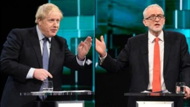 Photo of Johnson and Corbyn clash over Brexit in first TV debate of UK general election
