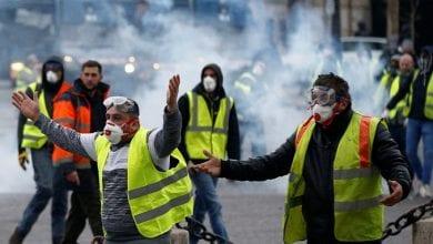 """صورة الأمن الفرنسي يعتقل قرابة 100 متظاهر خلال احتجاجات """"السترات الصفراء"""""""